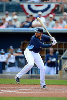 Tampa Bay Rays first baseman James Loney #21 during a Grapefruit League Spring Training game against the Boston Red Sox at Charlotte County Sports Park on February 25, 2013 in Port Charlotte, Florida.  Tampa Bay defeated Boston 6-3.  (Mike Janes/Four Seam Images)