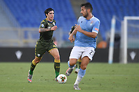 Sandro Tonali of Brescia and Jony of Lazio<br /> during the Serie A football match between SS Lazio  and Brescia Calcio at stadio Olimpico in Roma (Italy), July 29th, 2020. Play resumes behind closed doors following the outbreak of the coronavirus disease. <br /> Photo Antonietta Baldassarre / Insidefoto