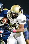 Lawndale, CA 10/21/11 - Okuoma Idah (Peninsula #24) in action during the Peninsula - Leuzinger varsity football game.