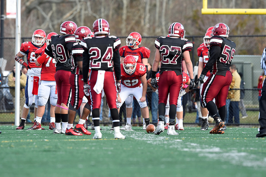 November 26, 2015: Game action from the 2015 Cape Cod Bowl Brockton vs Bridgewater-Raynham held at Bridgewater-Raynham High School in Bridgewater, Mass.