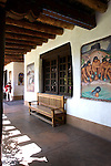 Courtyard, Museum of Fine Arts, Museum of New Mexico, Santa Fe, New Mexico