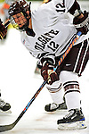 3 January 2009: Colgate Raiders' forward Brian Day, a Sophomore from Danvers, MA, in action against the Ferris State Bulldogs during the consolation game of the 2009 Catamount Cup Ice Hockey Tournament hosted by the University of Vermont at Gutterson Fieldhouse in Burlington, Vermont. The two teams battled to a 3-3 draw, with the Bulldogs winning a post-game shootout 2-1, thus placing them third in the tournament...Mandatory Photo Credit: Ed Wolfstein Photo
