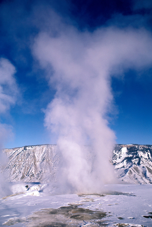 WY: Wyoming; Yellowstone National Park, Old Faithful, geyser .Photo Copyright Lee Foster, lee@fostertravel.com, www.fostertravel.com, (510) 549-2202.Image: wyyell201