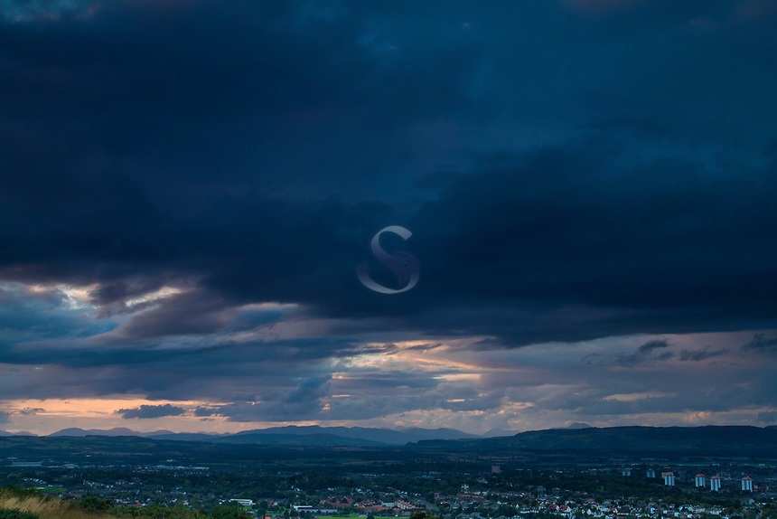 Glasgow and the Southern Highlands, from Fereneze Braes, Barrhead, East Renfrewshire