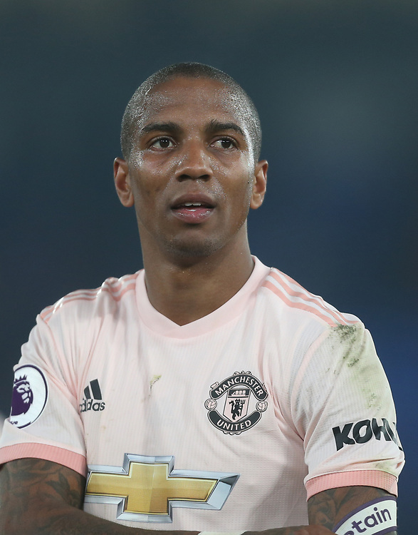 Manchester United's Ashley Young<br /> <br /> Photographer Rob Newell/CameraSport<br /> <br /> The Premier League - Wednesday 27th February 2019  - Crystal Palace v Manchester United - Selhurst Park - London<br /> <br /> World Copyright © 2019 CameraSport. All rights reserved. 43 Linden Ave. Countesthorpe. Leicester. England. LE8 5PG - Tel: +44 (0) 116 277 4147 - admin@camerasport.com - www.camerasport.com