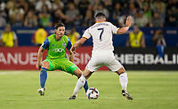Carson, CA - Saturday July 29, 2017: Gustav Svensson during a Major League Soccer (MLS) game between the Los Angeles Galaxy and the Seattle Sounders FC at StubHub Center.