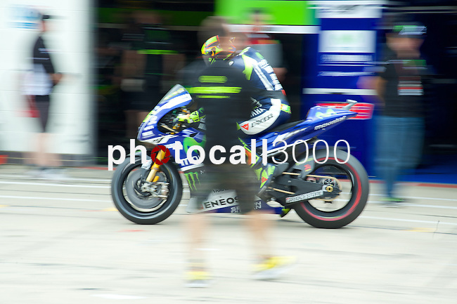 hertz british grand prix during the world championship 2014.<br /> Silverstone, england<br /> August 28, 2014. <br /> FP MotoGP<br /> Box<br /> rossi<br /> PHOTOCALL3000/ RME