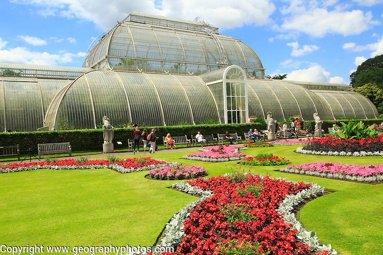 The Palm House at Royal Botanic Gardens, Kew, London, England, UK