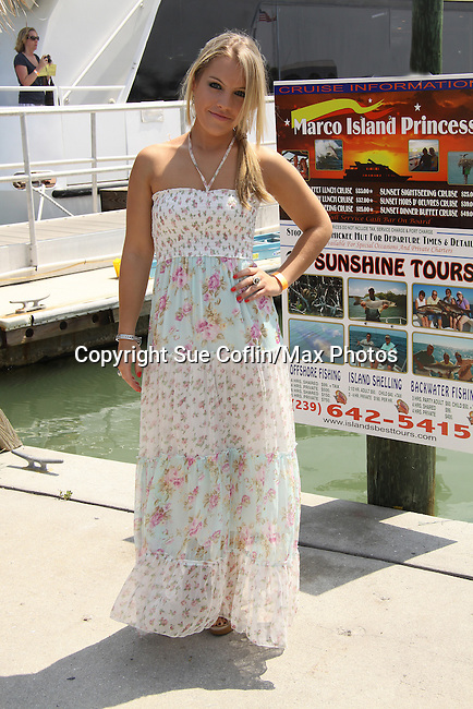 One Life To Live Kristen Alderson at the Cruisin' & Schmoozin' with the Stars on the Marco Island Princess sightseeing tour of beautiful Marco Island, watching the dolphins, autographs, photos, auctions & a buffet luncheon on May 15 Marco Island, Florida - SWFL Soapfest Charity Weekend May 14 & !5, 2011 benefitting several children's charities including the Eimerman Center providing educational & outreach services for children for autism. see www.autismspeaks.org. (Photo by Sue Coflin/Max Photos)
