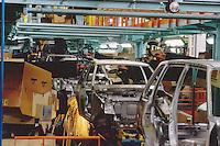 - FIAT Rivalta factory in Turin, the automated assembly line<br /> <br /> - stabilimento FIAT Mirafiori a Torino, catena di montaggio automatizzata
