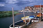 AE2KRE Blakeney quayside boats Norfolk England