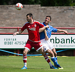 Aberdeen v St Johnstone...28.06.15  Glebe Park, Brechin..Pre-Season Friendly<br /> Paul Quinn and John Sutton<br /> Picture by Graeme Hart.<br /> Copyright Perthshire Picture Agency<br /> Tel: 01738 623350  Mobile: 07990 594431