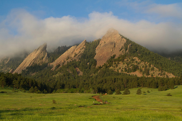 Chautauqua Park and Flatirons rock formation, Boulder, Colorado .  John leads hiking and photo tours throughout Colorado.