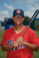 Elizabethton Twins Lean Marrero (39) poses for a photo before a game against the Bristol Pirates on July 29, 2018 at Joe O'Brien Field in Elizabethton, Tennessee.  Bristol defeated Elizabethton 7-4.  (Mike Janes/Four Seam Images)