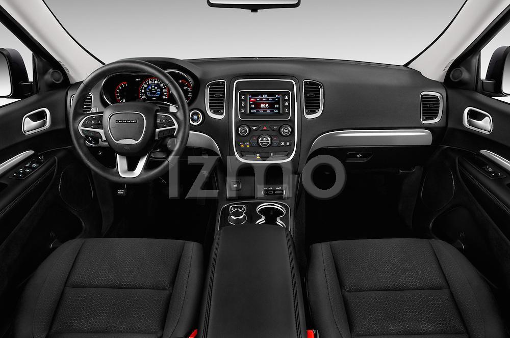 Stock photo of straight dashboard view of 2017 Dodge Durango SXT 5 Door Suv Dashboard