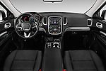 Stock photo of straight dashboard view of 2017 Dodge Durango SXT 5 Door Suv Dashboard