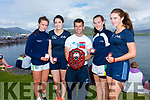 The Portmagee U16 Girls take Gold and the Aidan Walsh Perpetual Shield at the Valentia Regatta on Monday pictured here l-r; Rachel Devane, Sorcha Lynch, David Hussey(cox), Clíona Murphy Aoife Lynch.