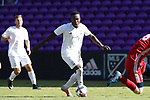 Orlando, Florida - Wednesday January 17, 2018: Francis Atuahene. Match Day 3 of the 2018 adidas MLS Player Combine was held Orlando City Stadium.