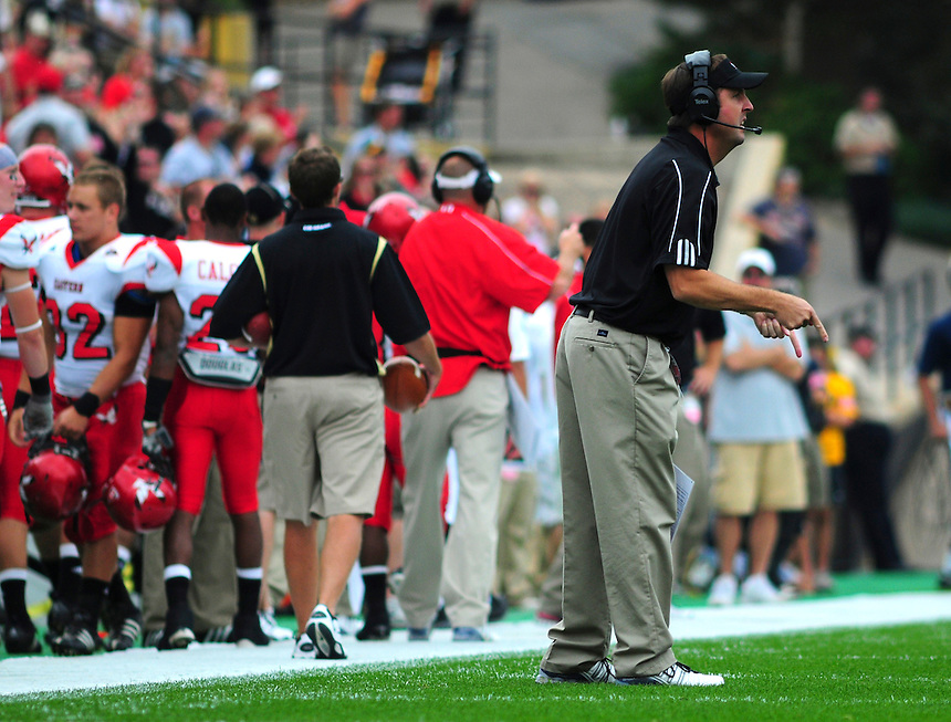 06 September 08: Eastern Washington head coach Beau Baldwin during a game against Colorado. The Colorado Buffaloes defeated the Eastern Washington Eagles 31-24 at Folsom Field in Boulder, Colorado. FOR EDITORIAL USE ONLY