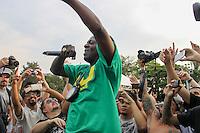 São Paulo, SP - 18.10.2014 - PUBLIC ENEMY- Flavor Flav, rapper do Public Enemy. O grupo de hip hop fez um show de graça na reabertura do clube de regatas Tietê na tarde deste sábado, (18) (Foto: Renato Mendes / Brazil Photo Press)