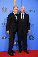 Michael Douglas and Alan Arkin pose backstage at the 76th Annual Golden Globe Awards at the Beverly Hilton in Beverly Hills, CA on Sunday, January 6, 2019.<br /> *Editorial Use Only*<br /> CAP/PLF/HFPA<br /> Image supplied by Capital Pictures