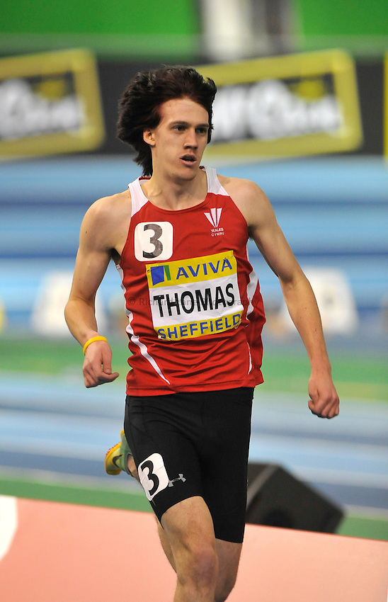 Photo: Paul Greenwood/Richard Lane Photography. Aviva World Trials & UK Championships. 14/02/2010. .Ieuan Thomas in the Mens 1500m.