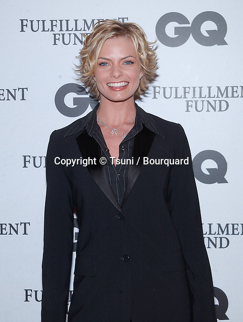 Jamie Pressly arriving at the GQ magazine 3rd annual MOVIE ISSUE to benefit the fulfillement Fund serving the disadvantaged students in Los Angeles. The event was at the Sunset Room In Los Angeles. February 20, 2002.           -            PresslyJamie02.jpg