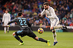 Real Madrid's Nacho Fernandez and Real Sociedad's Raul Navas during La Liga match between Real Madrid and Real Sociedad at Santiago Bernabeu Stadium in Madrid, Spain. January 29, 2017. (ALTERPHOTOS/BorjaB.Hojas)