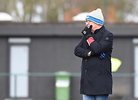 20200329 – BRUGGE, BELGIUM : Club Brugge's head coach Leo Van Der Elst pictured during a women soccer game between Dames Club Brugge and Standard Femina de Liege on the 17 th matchday of the Belgian Superleague season 2019-2020 , the Belgian women's football  top division , saturday 29 th February 2020 at the Jan Breydelstadium – terrain 4  in Brugge  , Belgium  .  PHOTO SPORTPIX.BE | DAVID CATRY