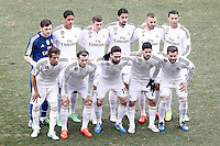Real Madrid's team photo with Iker Casillas, Raphael Varane, Toni Kroos, Sami Khedira, Karim Benzema, Cristiano Ronaldo, Fabio Coentrao, Garet Bale, Daniel Carvajal, Isco and Nacho Fernandez during La Liga match.February 7,2015. (ALTERPHOTOS/Acero) /NORTEphoto.com