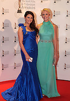 12/2/11 Expose's Lisa Cannon and Aisling O'Loughlin on the red carpet at the 8th Irish Film and Television Awards at the Convention centre in Dublin. Picture:Arthur Carron/Collins