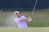 Ian Poulter (ENG) blades his chip from a bunker at the 8th green during Friday's Round 2 of the 118th U.S. Open Championship 2018, held at Shinnecock Hills Club, Southampton, New Jersey, USA. 15th June 2018.<br /> Picture: Eoin Clarke | Golffile<br /> <br /> <br /> All photos usage must carry mandatory copyright credit (&copy; Golffile | Eoin Clarke)