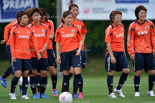 Japan Women's team group (JPN), .JULY 12, 2012 - Football / Soccer :  Women's Japan National Team Training in Akitsu, Chiba, Japan. (Photo by Jun Tsukida/AFLO SPORT)