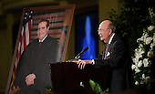 Judge Laurence Silberman, senior judge on the United States Court of Appeals for the District of Columbia Circuit, speaks at the memorial service for the late Associate Justice of the Supreme Court Antonin Scalia at the Mayflower Hotel in Washington, DC, Tuesday, March 1, 2016. <br /> Credit: Susan Walsh / Pool via CNP