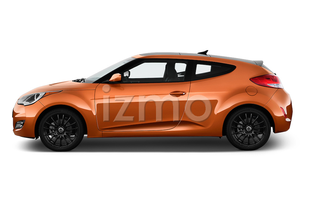 Car Driver side profile view of a 2016 Hyundai Veloster 1.6-Manual 4 Door Hatchback Side View