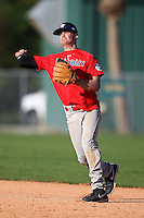 December 28, 2009:  Ryan Sliwak (3) of the Baseball Factory Cornhuskers team during the Pirate City Baseball Camp & Tournament at Pirate City in Bradenton, FL.  Photo By Mike Janes/Four Seam Images