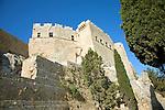 Fortress walls, Acropolis, Lindos, Rhodes, Greece
