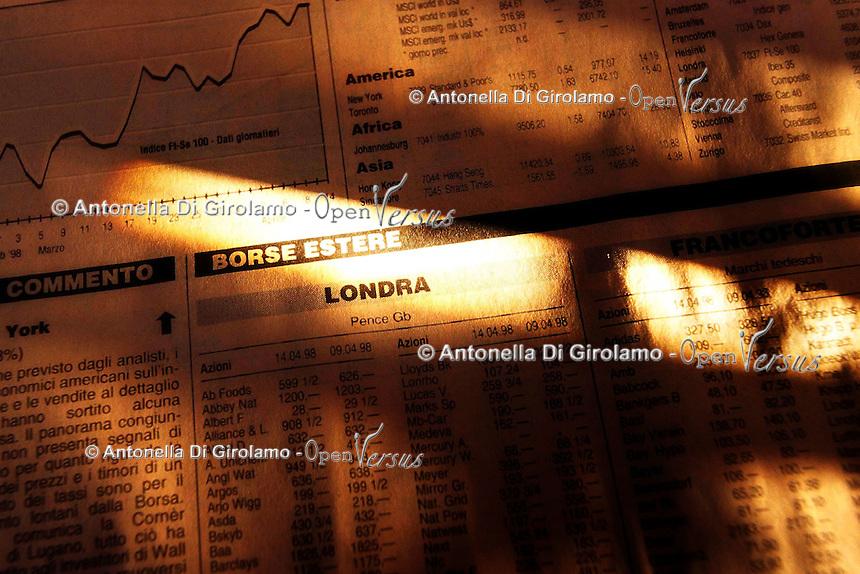 Finanza.Finance.Titoli di borsa.Share exchange...
