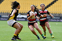 Ocean Tierney of Counties Manukau in action during the Farah Palmer Cup - Wellington Pride v Counties Heat at Westpac Stadium, Wellington, New Zealand on Sunday 15 September 2019. <br /> Photo by Masanori Udagawa <br /> www.photowellington.photoshelter.com