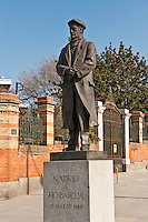 Memorial sculpture of Pio Baroja, a Spanish writer, Retiro Park, Madrid, Spain