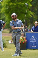 Louis Oosthuizen (RSA) watches his tee shot on 15 during Round 3 of the Zurich Classic of New Orl, TPC Louisiana, Avondale, Louisiana, USA. 4/28/2018.<br /> Picture: Golffile | Ken Murray<br /> <br /> <br /> All photo usage must carry mandatory copyright credit (&copy; Golffile | Ken Murray)