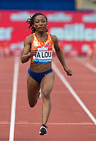 Josee-Marie TA LOU of Ivory Coast wins her heat of the 100m in 10.94 during the Muller Grand Prix Birmingham Athletics at Alexandra Stadium, Birmingham, England on 20 August 2017. Photo by Andy Rowland.