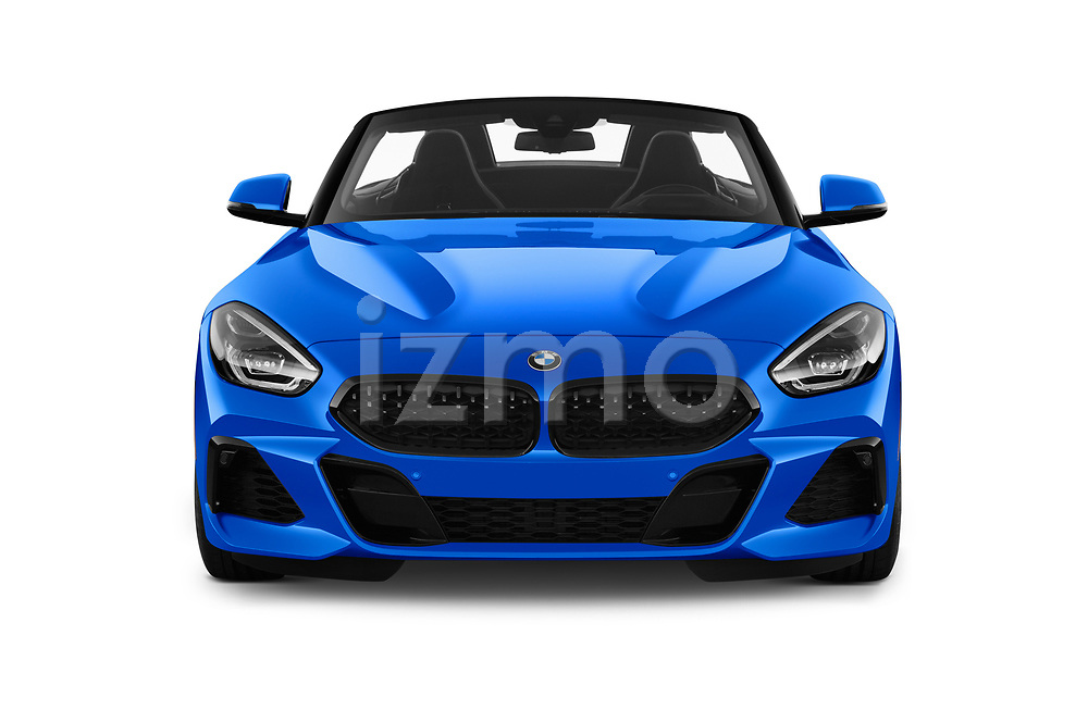 Car photography straight front view of a 2020 BMW Z4 Base 2 Door Convertible