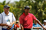 DORAL, FL. - Steve Williams and Tiger Woods play at the 2009 World Golf Championships CA Championship at Doral Golf Resort and Spa in Doral, FL. on March 15, 2009