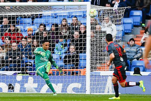 05.03.2016.  Madrid, Spain.  Keylor Navas Gamboa (1) Real Madrid. La Liga between Real Madrid versus Celta de Vigo at the Santiago Bernabeu stadium in Madrid, Spain