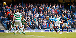 Martyn Waghorn attempts a header on goal