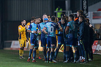 Wycombe manager Gareth Ainsworth addresses his side at a break in play during the Sky Bet League 2 match between Newport County and Wycombe Wanderers at Rodney Parade, Newport, Wales on 22 November 2016. Photo by Mark  Hawkins.
