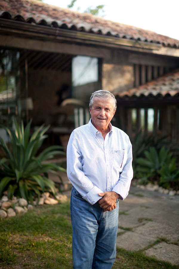 Architect Octavio Raja Gabaglia at his home, in Buzios.