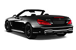 Car pictures of rear three quarter view of 2017 Mercedes Benz SL-Class AMG-63 2 Door Convertible Angular Rear