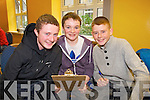 Pictured at the KDYS Youth Day Quiz on Sunday were l-r:  Darragh McCarthy David Sheehan Joe Joe Grimes Listowel Youth Club).